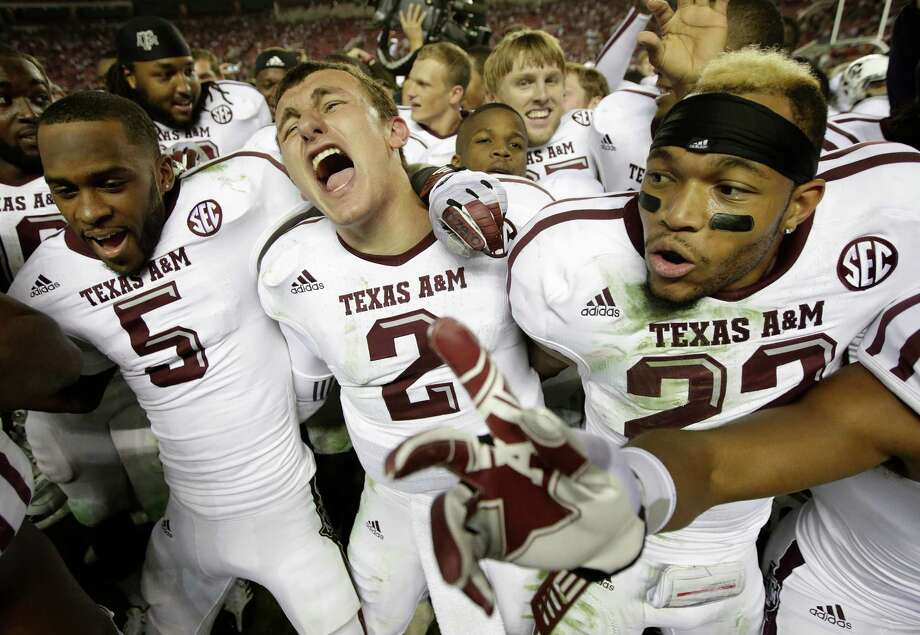 Texas A&M on Saturday will try to recapture the magic from the last time it visited Tuscaloosa, Ala., on Nov. 10, 2012, when quarterback Johnny Manziel (2) led the Aggies to an upset of the No. 1 Crimson Tide. Photo: Dave Martin, STF / AP