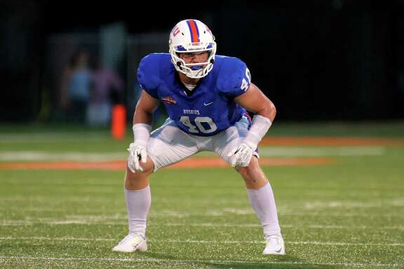 HBU linebacker Garrett Dolan ranks fourth in the Southland Conference with 8.8 tackles per game.