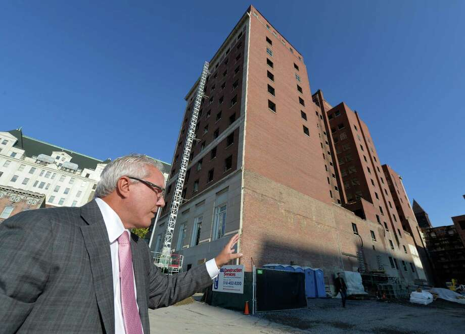 Joe Nicolla, president, Columbia Development shows the Times Union the renovation of the Dewitt Clinton building Friday morning Oct. 17, 2014 in Albany, N.Y.       (Skip Dickstein/Times Union) Photo: SKIP DICKSTEIN / 10029066A