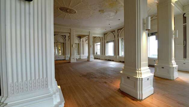 Interior view of the former grand ballroom of the Dewitt Clinton building which is being renovated by the Columbia Development Co. Friday morning Oct. 17, 2014 in Albany, N.Y.       (Skip Dickstein/Times Union) Photo: SKIP DICKSTEIN / 10029066A