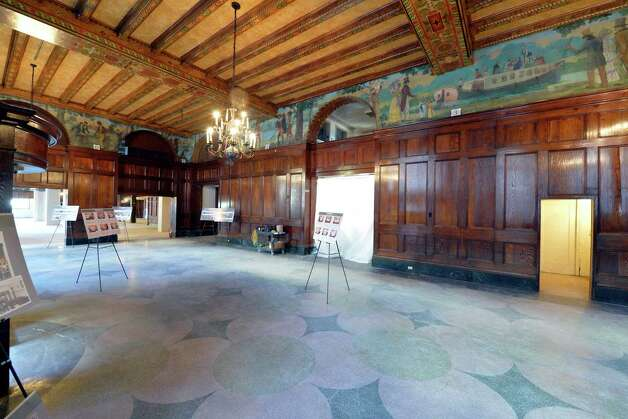 Interior view of the lobby in the Dewitt Clinton building which is being renovated by the Columbia Development Co. Friday morning, Oct. 17, 2014, in Albany, N.Y.       (Skip Dickstein/Times Union) Photo: SKIP DICKSTEIN / 10029066A