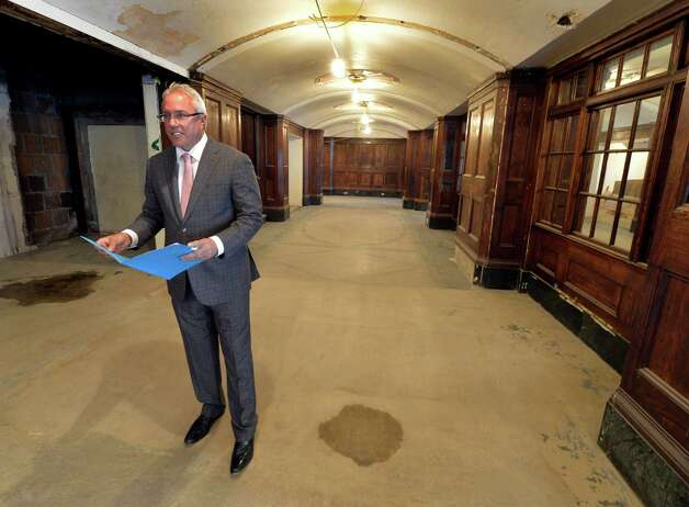 Joe Nicolla, president, Columbia Development shows the Times Union the renovation effort at the Dewitt Clinton building which is being renovated Friday morning Oct. 17, 2014 in Albany, N.Y.       (Skip Dickstein/Times Union) Photo: SKIP DICKSTEIN / 10029066A