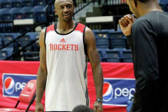 Not having played five-on-five since February, Jason Terry was happy to get back on the court with his new Rockets teammates Friday in Hidalgo.