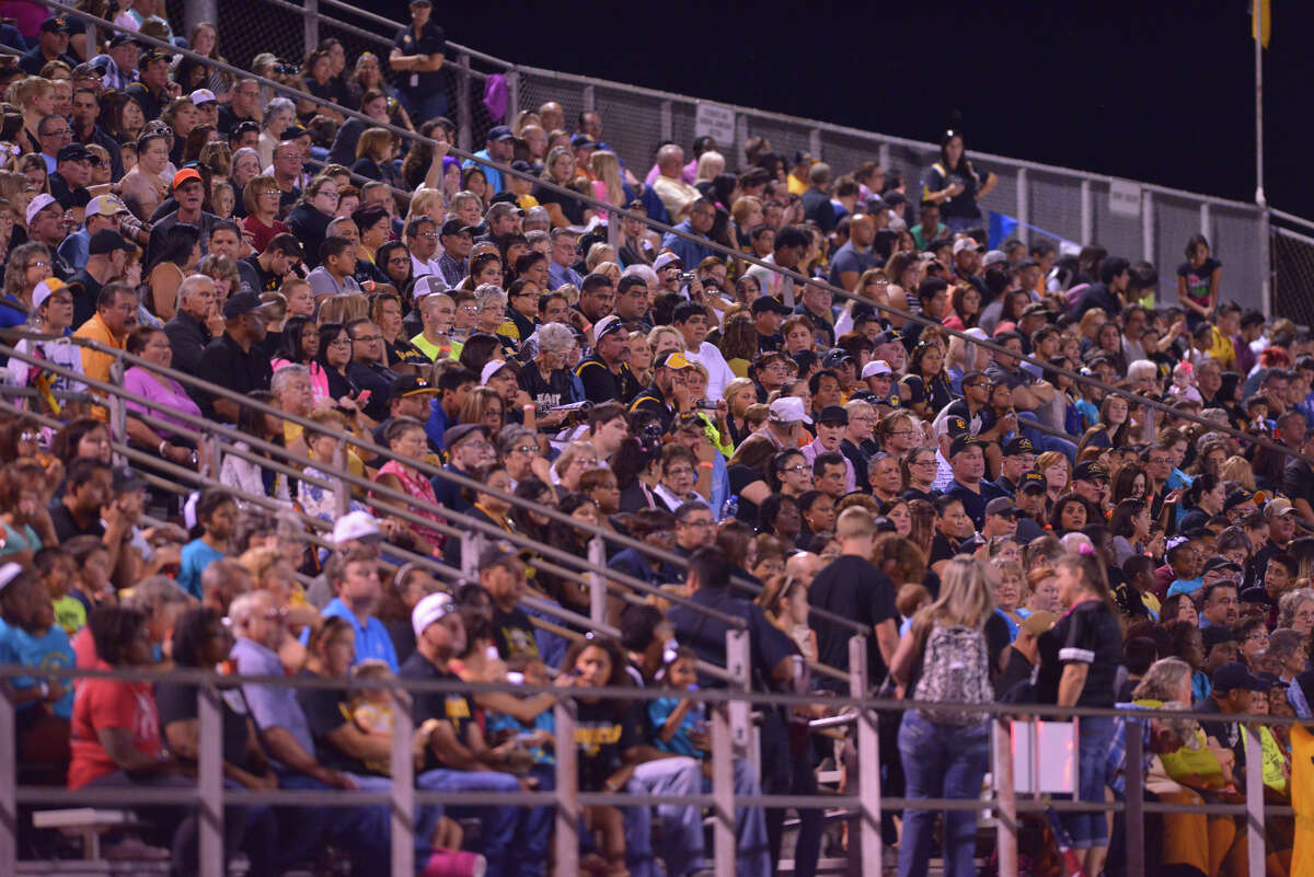 The East Central fans packed the grandstand for the game versus Southwest Friday night.