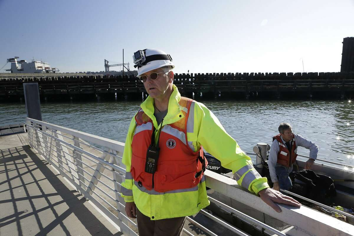 Tom Carter, a deputy director with the Port of San Francisco, was on hand during the removal of Drydock #1 and the subsequent search for human remains on Saturday, October 18, 2014, near Pier 50 on the San Francisco waterfront. Human remains were discovered as the Historic Drydock No. 1 was prepared for its journey to China.