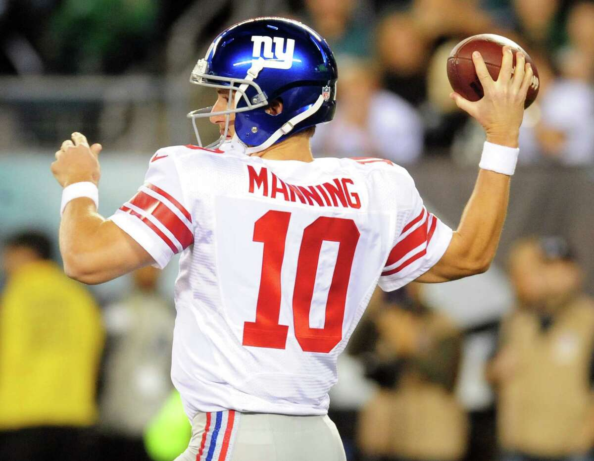 Giants QB Eli Manning was sacked six times and held to 151 yards passing during a 27-0 loss to the Eagles last week.