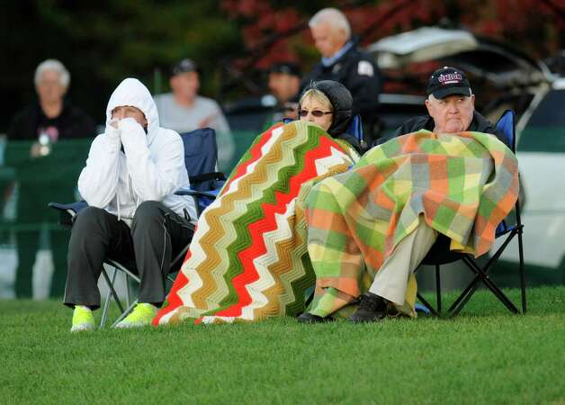 Union fans watch Union play against Western New England during the first half of an NCAA college football on Saturday, Oct. 18, 2014, in Schenectady, N.Y. (Hans Pennink / Special to the Times Union) ORG XMIT: HP108 Photo: Hans Pennink / Hans Pennink