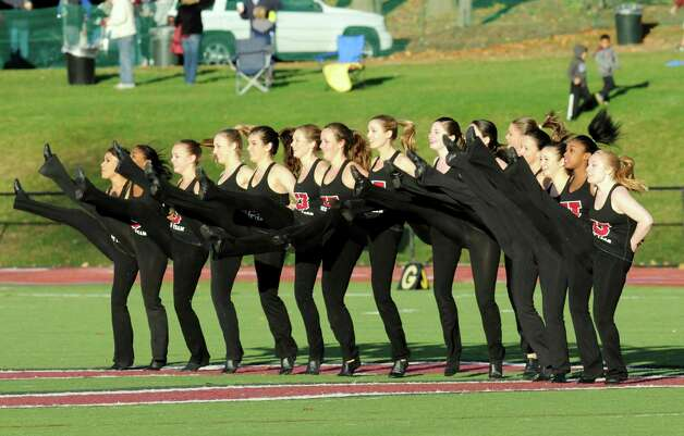 The Union dance team performs during a NCAA college football game against Western New England on Saturday, Oct. 18, 2014, in Schenectady, N.Y. (Hans Pennink / Special to the Times Union) ORG XMIT: HP113 Photo: Hans Pennink / Hans Pennink