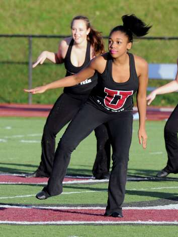 Members of the Union dance team perform during a NCAA college football game against Western New England on Saturday, Oct. 18, 2014, in Schenectady, N.Y. (Hans Pennink / Special to the Times Union) ORG XMIT: HP114 Photo: Hans Pennink / Hans Pennink