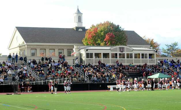 Union fans watch Union play against Western New England during the first half of an NCAA college football on Saturday, Oct. 18, 2014, in Schenectady, N.Y. (Hans Pennink / Special to the Times Union) ORG XMIT: HP117 Photo: Hans Pennink / Hans Pennink