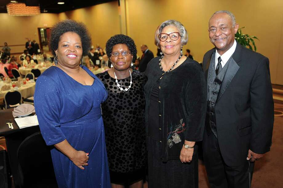 Tammie Lang Campbell, founder and executive director of the Honey Brown Hope Foundation, left, Sarah Collins Rudolph, sole survivor of the five girls in a 1963 Birmingham church bombing, State Rep. Senfronia Thompson and Jose Grifian of Fox 26 KRIV-TV, during the Honey Brown Hope Foundation's Eyes on the Prize: Celebrating 50th Anniversary of 1964 Civil Rights Act. The event was held on Oct. 18, 2014. Photo: Thomas Nguyen, Freelance / Freelance