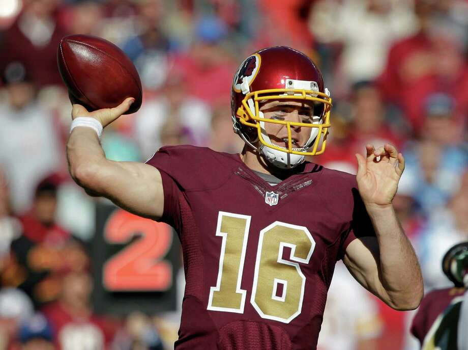 ... Jersey - Brown - 19.99 Washington Redskins quarterback Colt McCoy (16)  passes the ball during the second half of . bee0f0f4c