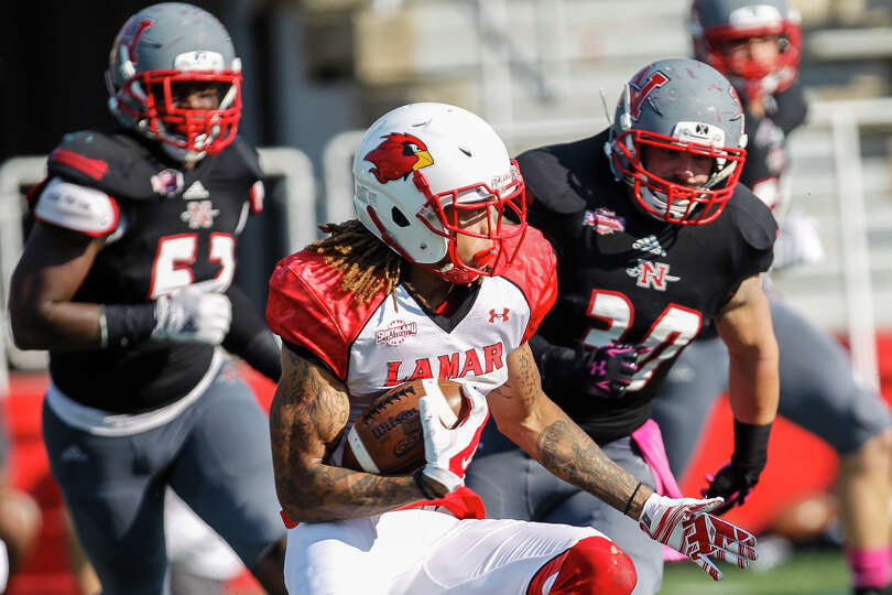Images from Saturday's Southland Conference game between the Lamar Cardinals and the Nicholls State