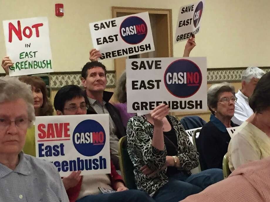 Save East Greenbush members at town Zoning Board of Appeals meeting on Tuesday Oct. 14, 2014. (Kenneth C. Crowe II/Times Union)