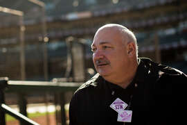 Advance scout Steve Balboni is a member of the Giants' brain trust that is looking for clues as to how to beat the Royals.