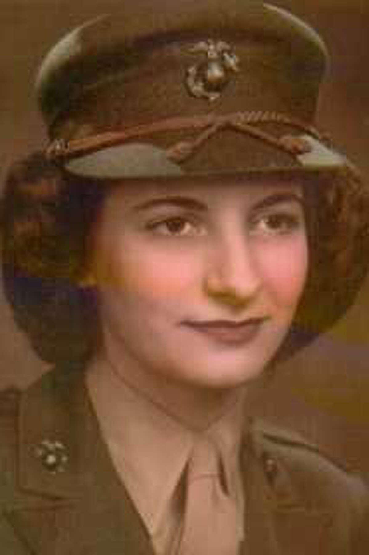 Annamae Marcus Bejger joined the Marines in 1943 and served as a technical sergeant.