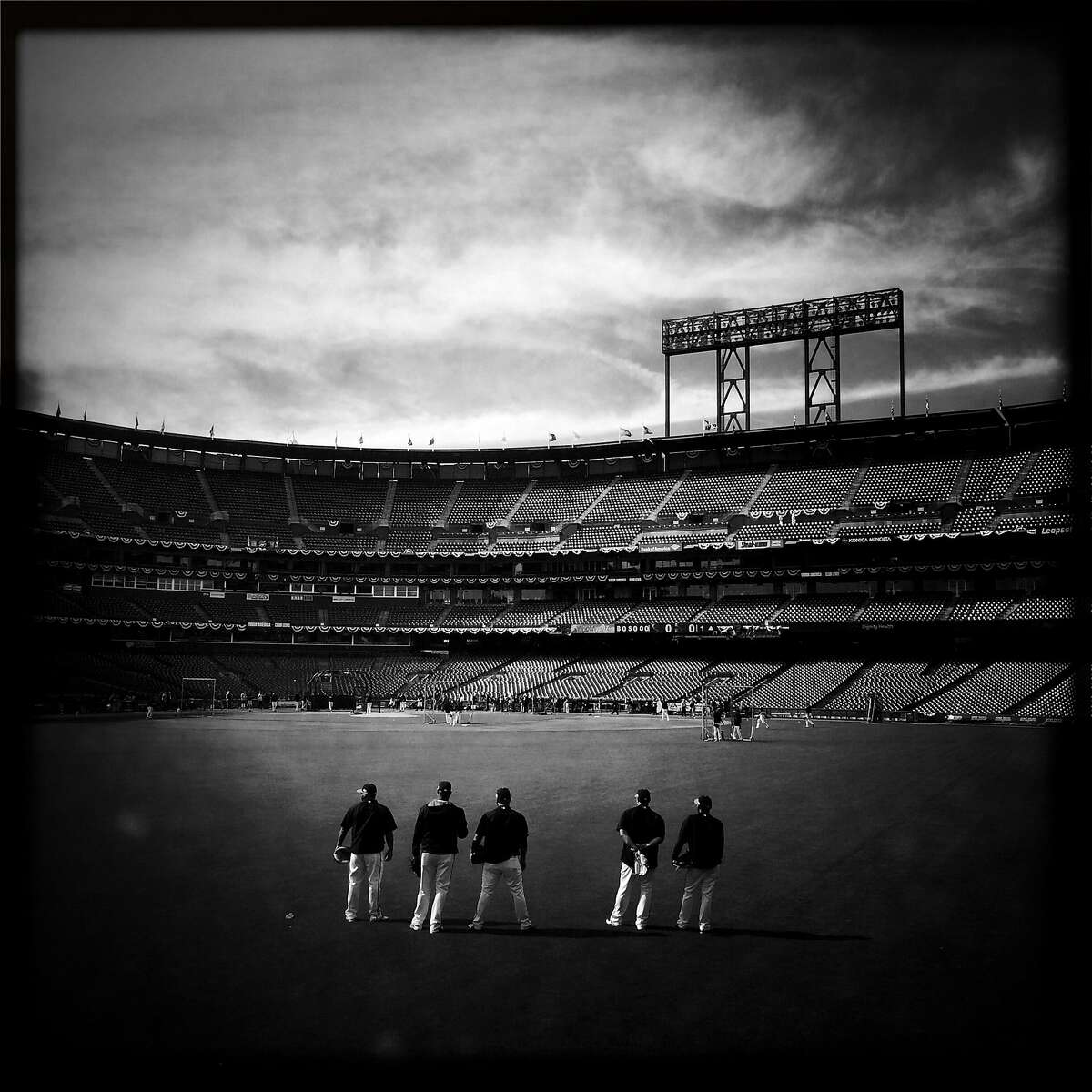 San Francisco Giants against St. Louis Cardinals in Game 5 of NLCS at AT&T Park in San Francisco, Calif. on October 16, 2014.