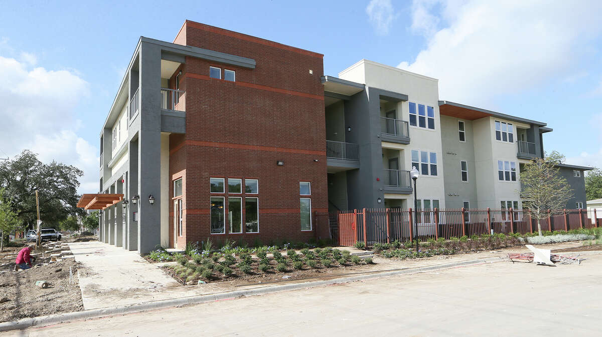 The leasing office and apartment units in Phase III of The Gardens at San Juan Square at 2003 S. Zarzamora on Monday, Sept. 8, 2014. In addition to the 12 residential/commercial units, the project includes 240 apartment units and commericial space. It it estimated to be completed this December. MARVIN PFEIFFER/ mpfeiffer@express-news.net