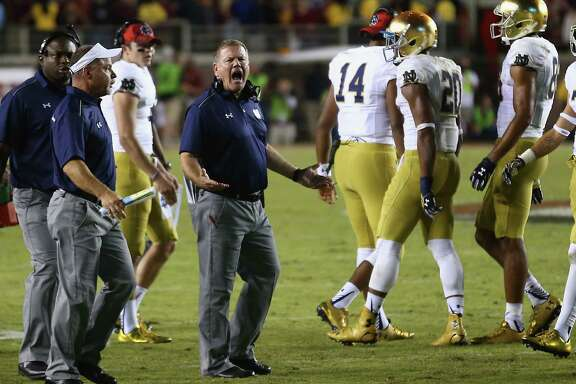 "Notre Dame coach Brian Kelly cries foul after a pass interference penalty cost the Irish the go-ahead touchdown in the final seconds Saturday against Florida State. Kelly still disagreed with the call after reviewing film Sunday, saying ""Florida State blew the coverage, and they got rewarded for it. So it's unfortunate."""