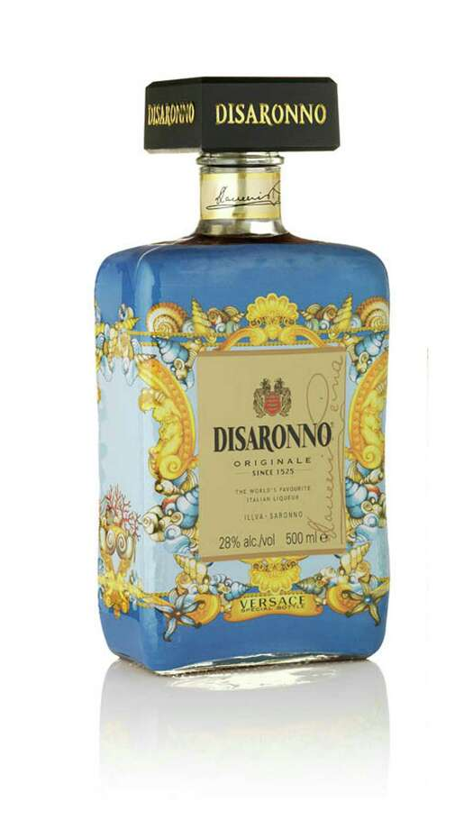 Disaronno, the amaretto-flavored Italian liqueur is getting dressed up for the holidays. Disaronno Wears Versace is a limited-edition bottle with a Versace Home Collection print. It will be available through the holidays; $27.99. Photo: Disaronno / Disaronno