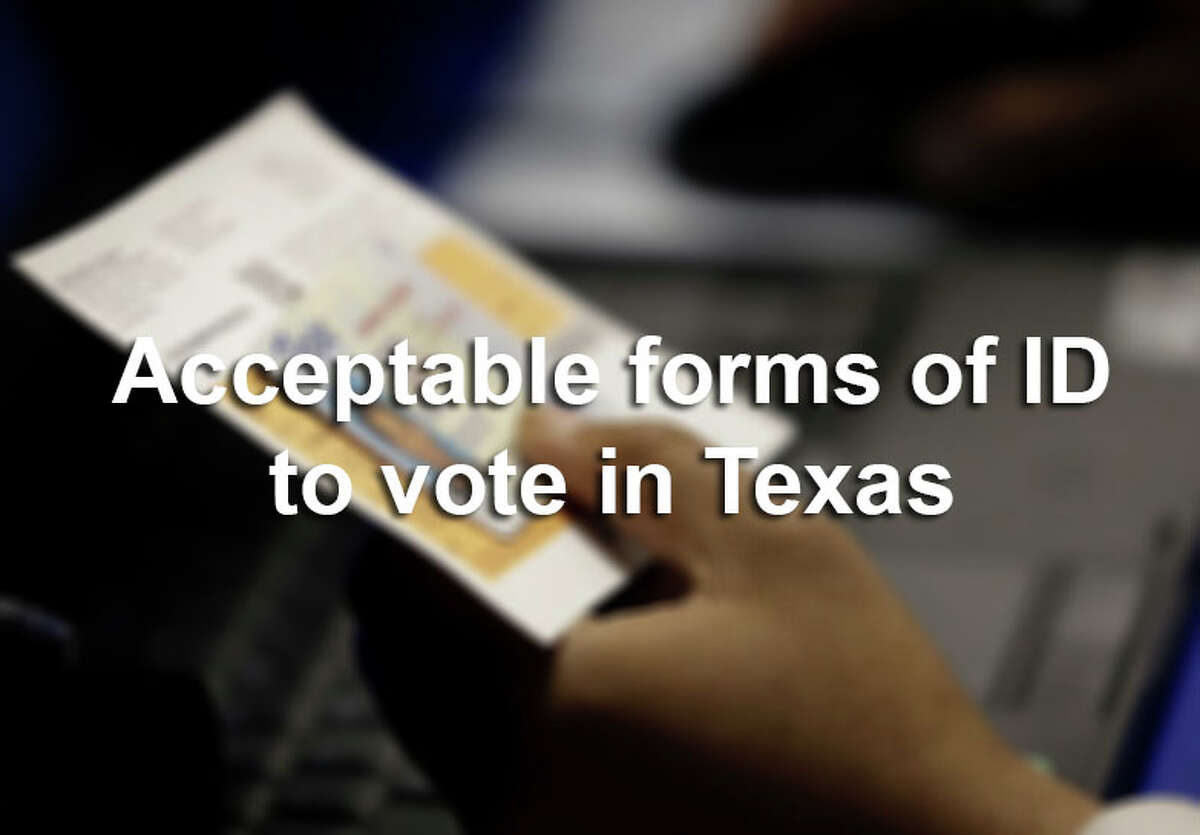 The following are acceptable forms of ID to voter in Texas under the state's voter ID law.