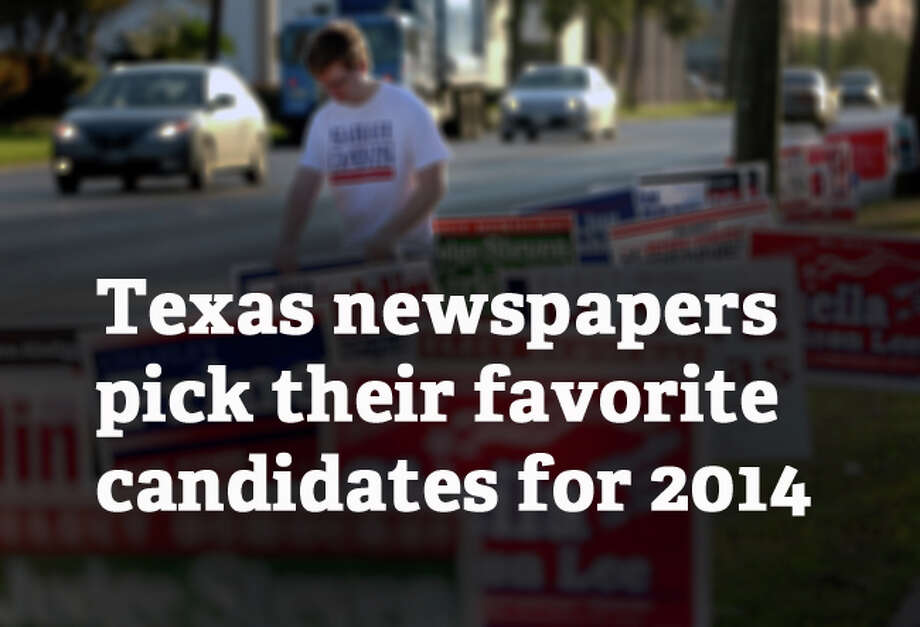 Newspapers around Texas offer their picks. You can see their editorials by clicking on the links with each photograph. Photo: Gary Coronado, . / © 2014 Houston Chronicle