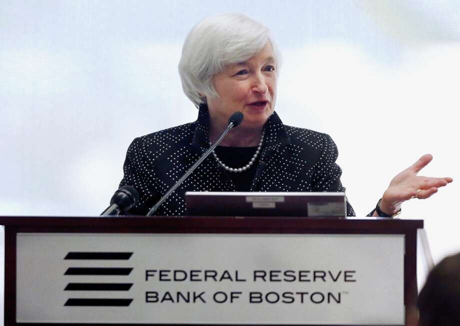 Federal Reserve Chairwoman Janet Yellen speaks at the Federal Reserve Bank in Boston. Photo: Michael Dwyer / Associated Press / AP