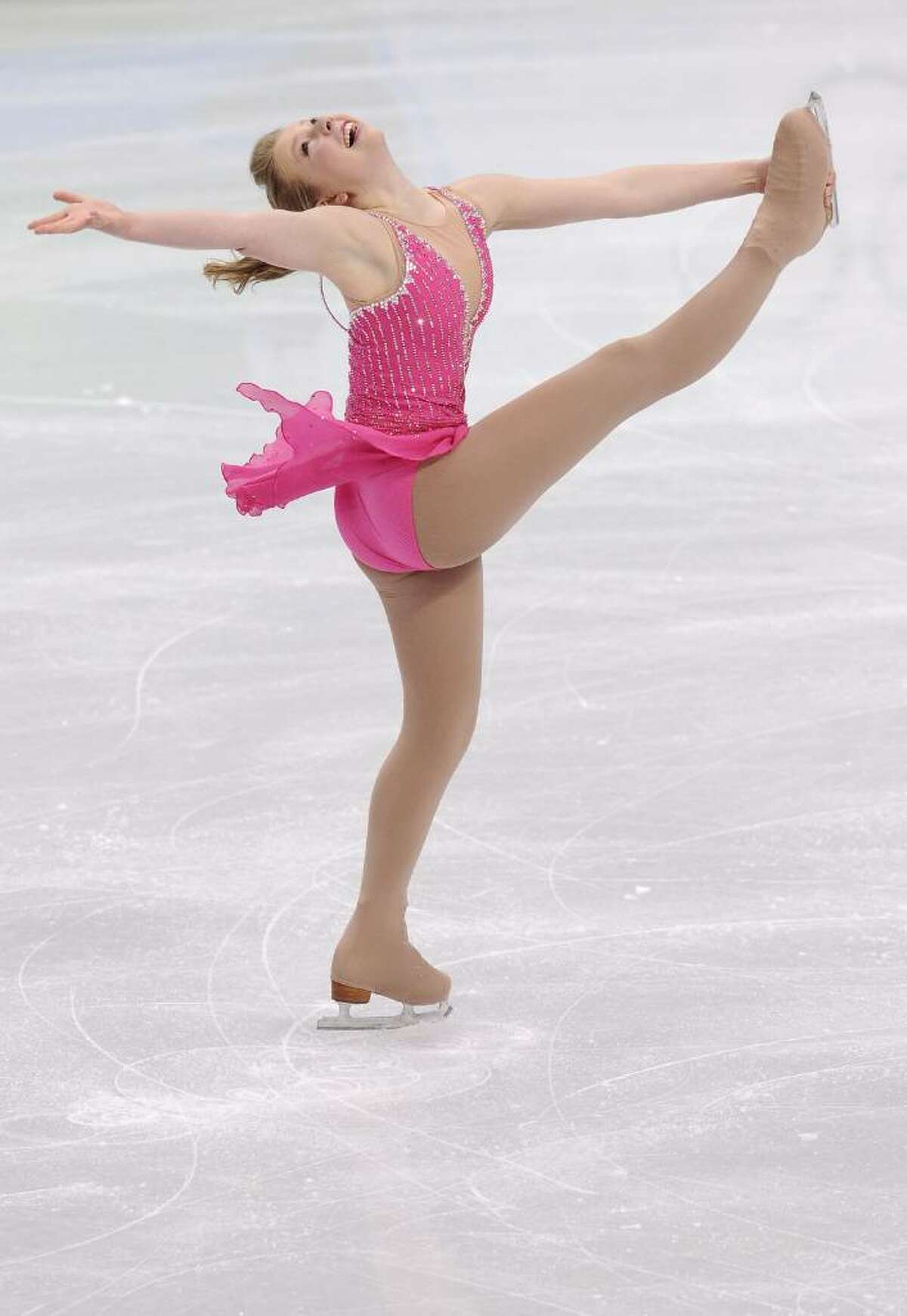 VANCOUVER, BC - FEBRUARY 23: Rachael Flatt of the United States competes in the Ladies Short Program Figure Skating on day 12 of the 2010 Vancouver Winter Olympics at Pacific Coliseum on February 23, 2010 in Vancouver, Canada. (Photo by Jasper Juinen/Getty Images) *** Local Caption *** Rachael Flatt