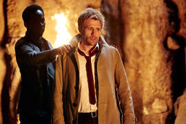 An otherworldly visitor has words with Constantine (Matt Ryan) in the show's premiere.