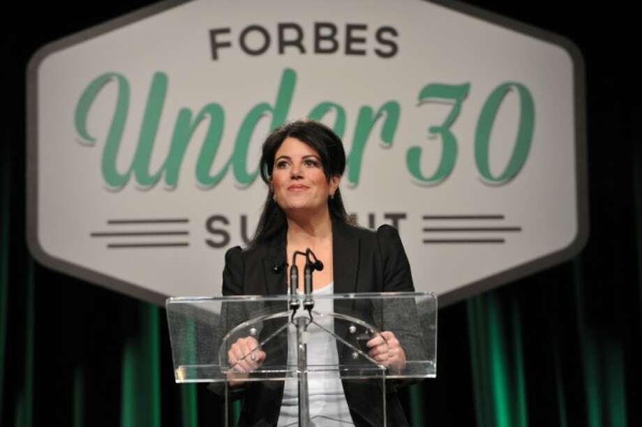 The world's most famous former intern Monica Lewinsky made a rare appearance recently to combat a topic she probably knows a thing or two about: cyberbullying. Admirable? Yes. She did, however, also use the opportunity to talk about her infamous affair with former President Bill Clinton, going so far as to say she was in love with him at some point. No word from Hilary Clinton on the subject, but no doubt the rehashing of the fling doesn't sit too well with Clinton (Mr. or Mrs.)  Hillary certainly isn't the first political wife who has inadvertently gotten mixed up in a love triangle. Take a look