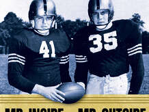 "Jack Cavanaugh's latest book, ""Mr. Inside and Mr. Outside"" tells the story of the World War II era Army football team whose three undefeated seasons excited sports fans and boosted national morale."