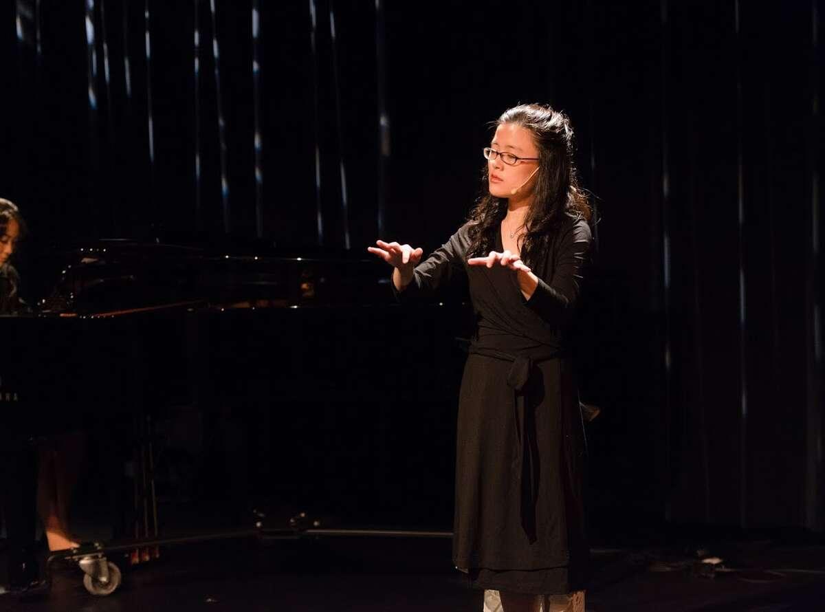 """Eunbi Kim performs in """"Murakami Music,"""" a performance piece inspired by Japanese novelist Haruki Murakami."""