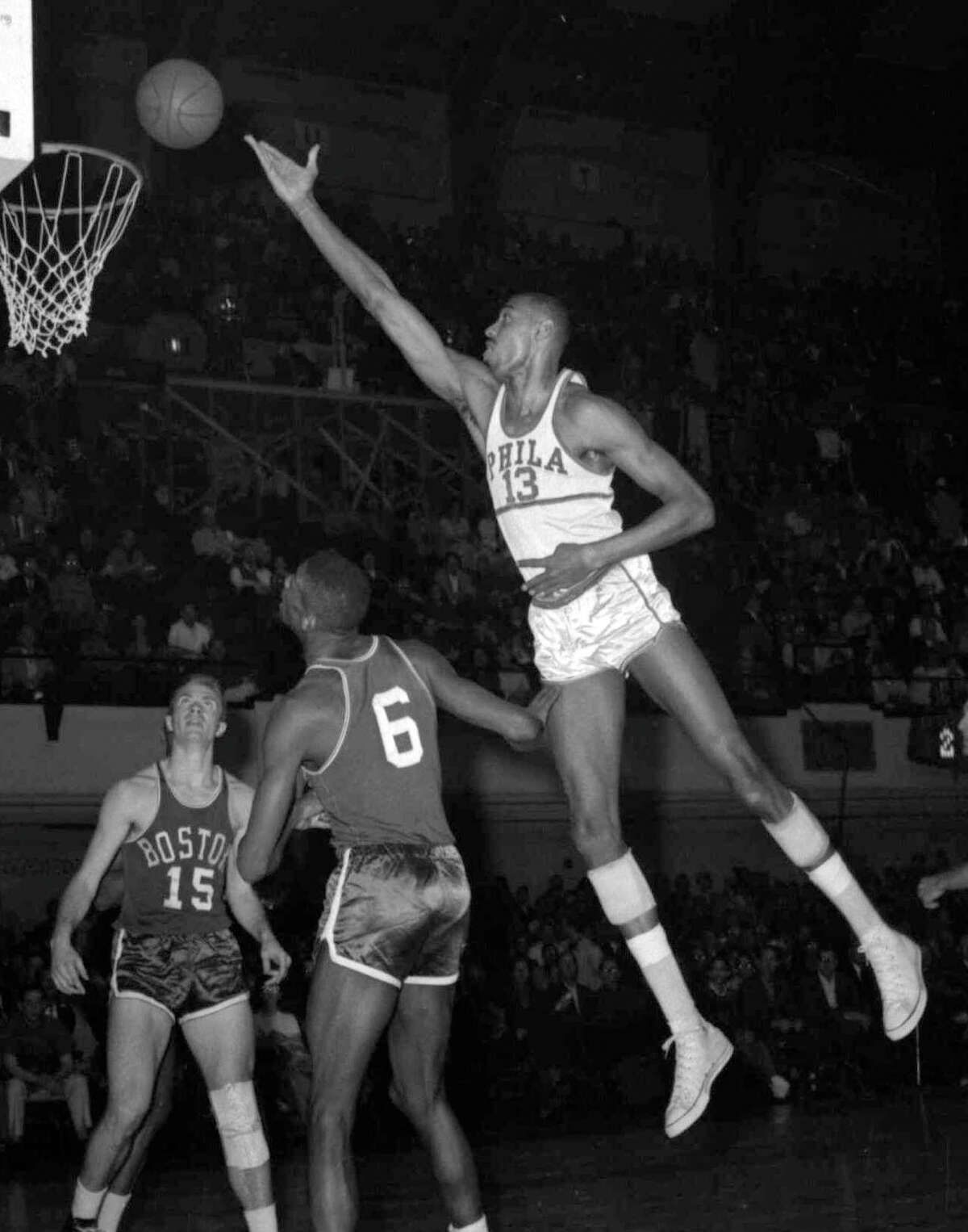As a member of the Philadelphia and San Francisco Warriors, Hall of Fame center Wilt Chamberlain was an NBA Rookie of the Year, All-Star and MVP. He also scored 100 points for the team in a 1962 game.