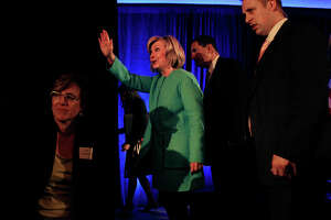 Clinton sounding like a candidate in latest S.F. appearance - Photo