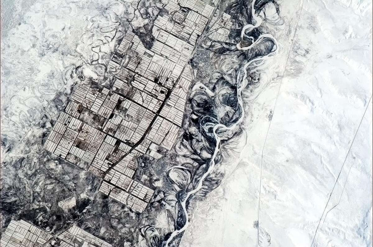 Chris Hadfield Tweeted photos and observations from the International Space Station in late 2012 and early 2013. He Tweeted about this photo: