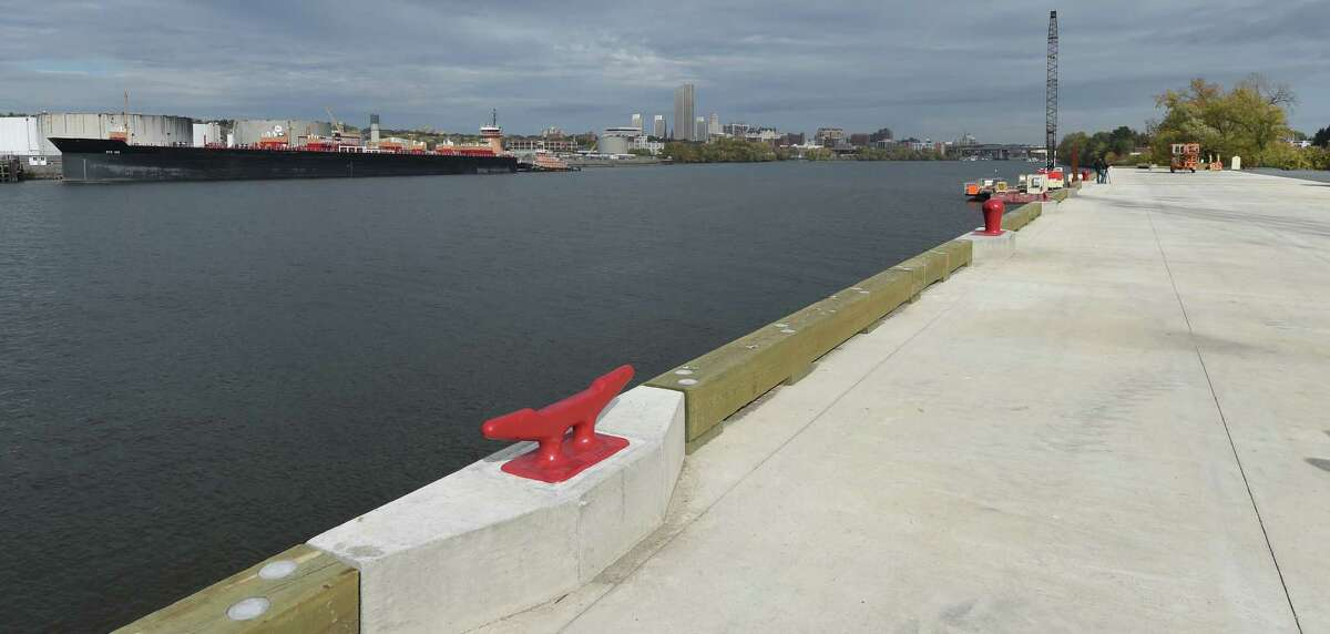 The new wharf in the Port of Rensselaer on Monday morning, Oct. 20, 2014, in Rensselaer, N.Y. (Skip Dickstein/Times Union)