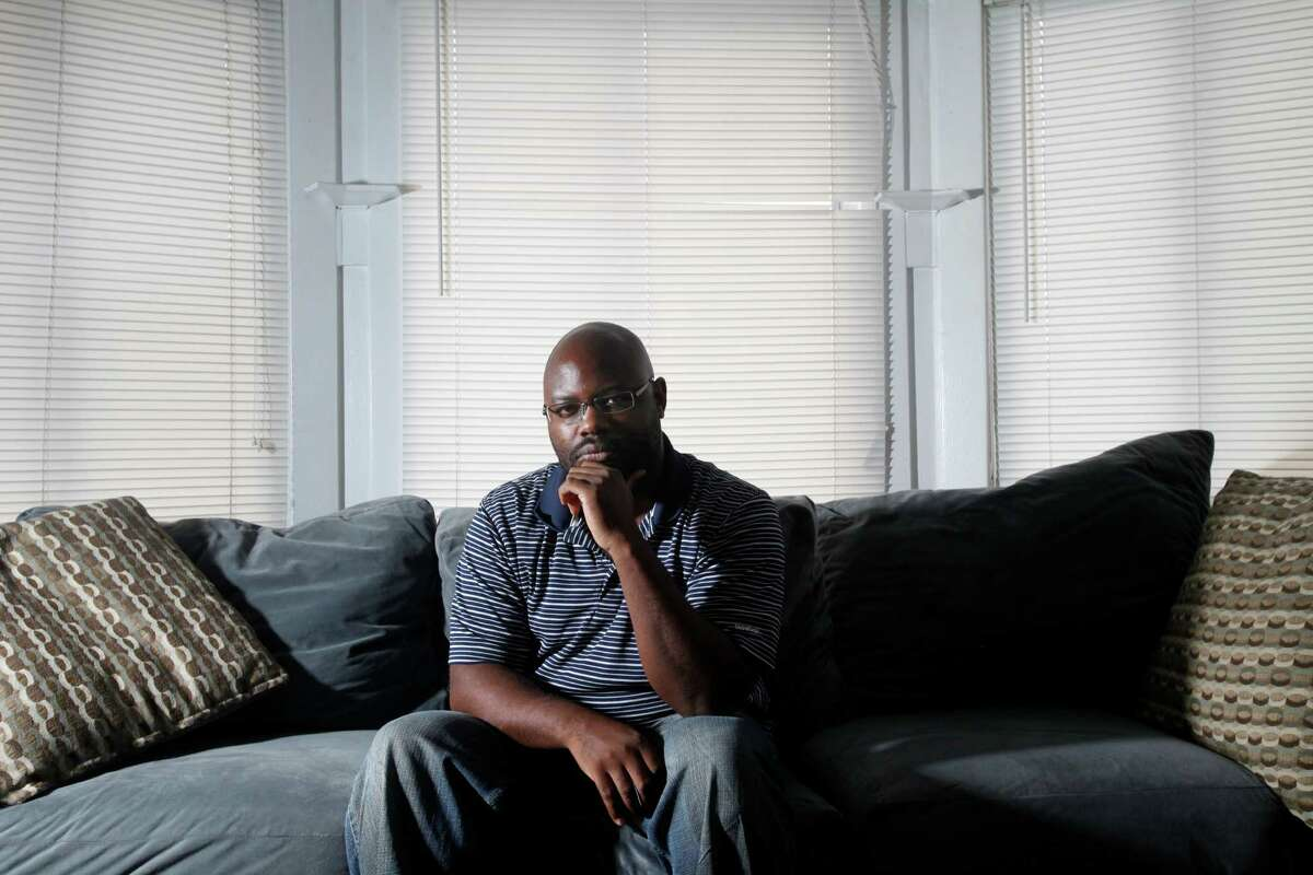 Jamil-Ka'hil Akins said his Oakland landlord has been trying to force him out for months by ordering evictions and raising his rent.