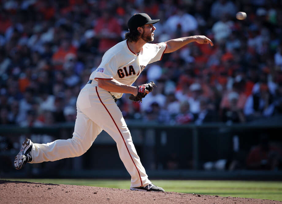 If the Series goes five games, Madison Bumgarner figures to become the third pitcher ever to make six starts in one postseason. Photo: Michael Macor / The Chronicle / ONLINE_YES
