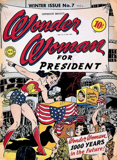 Cover of Wonder Woman comic, issue #7