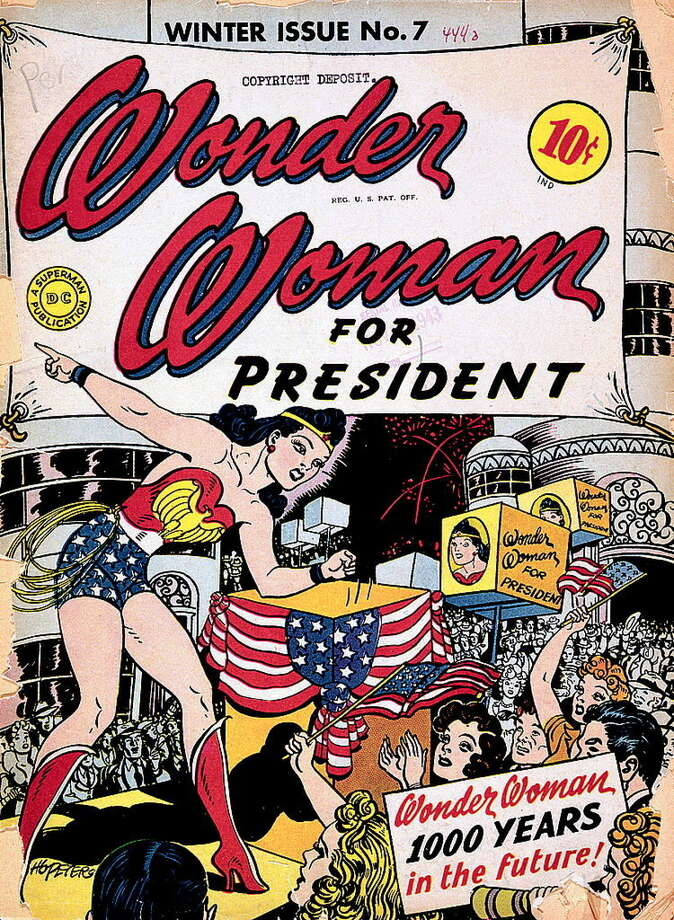 Wonder Woman comic book cover. Photo: The Smithsonian Institution / ONLINE_YES