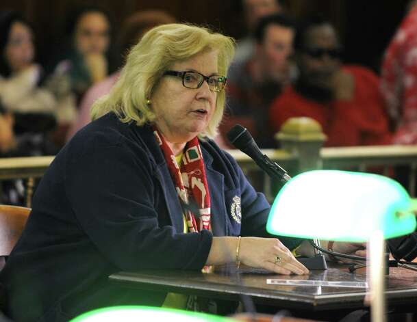 Patricia Reilly talks about red light cameras during the first public hearing on the mayors proposed budget for 2015 at Albany City Hall on Monday, Oct. 20, 2014 in Albany, N.Y. (Lori Van Buren / Times Union) Photo: Lori Van Buren / 10029014A