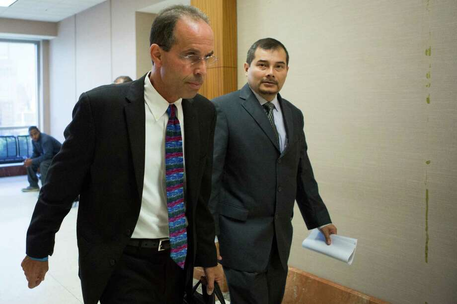 Former Sharpstown High School Principal Rob Gasparello and Assistant Principal Silvio Leiva, right, received pretrial diversions. Photo: Marie D. De Jesus, Staff / © 2014 Houston Chronicle