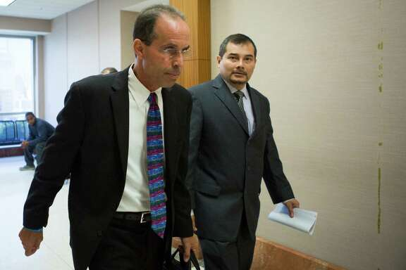 Former Sharpstown High School Principal Rob Gasparello and Assistant Principal Silvio Leiva, right, received pretrial diversions.