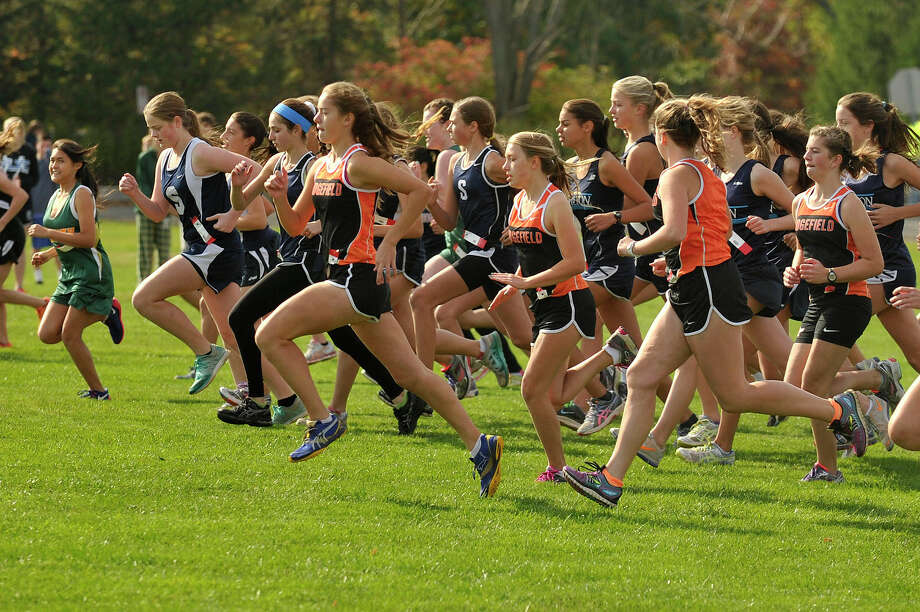 Scenes from the girls FCIAC cross country championship at Waveny Park in New Canaan, Conn., on Monday, Oct. 20, 2014. Photo: Jason Rearick / Stamford Advocate