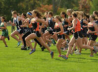 Scenes from the girls FCIAC cross country championship at Waveny Park in New Canaan, Conn., on Monday, Oct. 20, 2014.