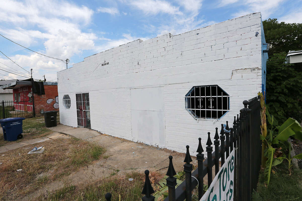 AFTER: Christian P. Rios, who bought the vacant building about a year ago with the intention of opening an arcade, chose to paint over the piece, commissioning an artist to paint a new work.
