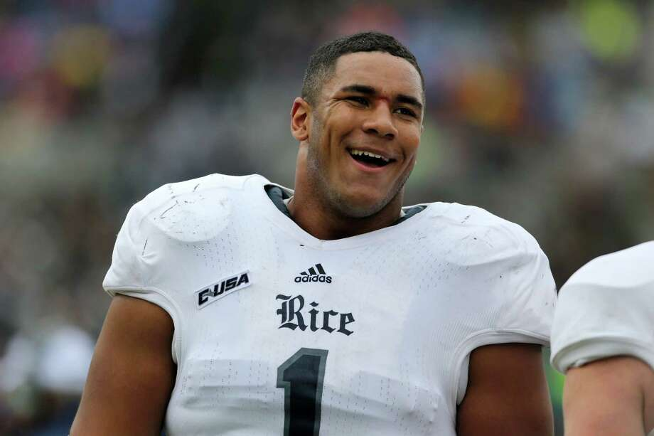 Rice Owls Christian Covington #1 on the sidelines against the Army Black Knights during a college football game on Saturday, October 11, 2014 in  West Point, NY. Rice won 41-21. (AP Photo/Gregory Payan) Photo: Gregory Payan, STF / AP