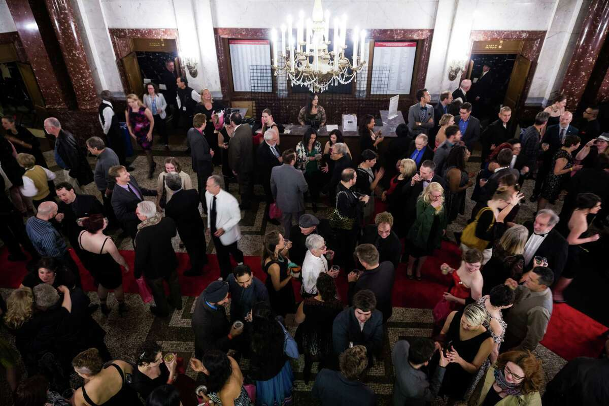 Attendees mingle at the Theatre Puget Sound's Sixth Annual Gregory Awards Monday, Oct. 20, 2014, at The Moore Theatre in Seattle., The Gregory Awards, which honors those dedicated to theater, has grown into a highly anticipated regional awards ceremony and a