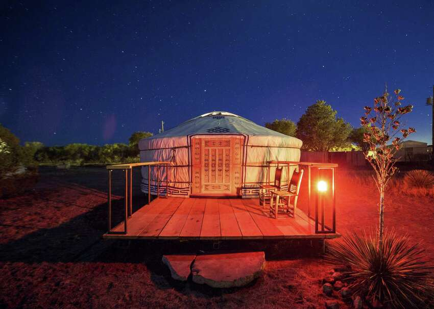 Guests can now book an authentic Mongolian yurt at El Cosmico in Marfa. The hotel and campground also offers yurts for sale on-site and through its online store, ecprovisionco.com.