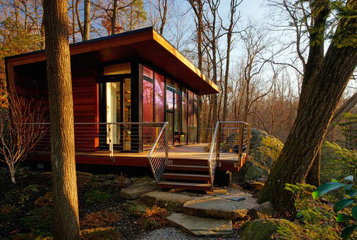 Mid Century Retreat Set In A Wooded Area This 300 Square